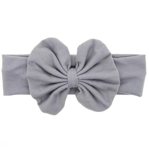 8PCS/Lot Solid Bow Bunny Ear Elastic Headband Bulk Baby Girl Kids Toddler Hair Accessories Hairbands-inSowni