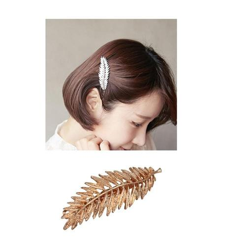 9 Pack Gold Vintage Hollow Branch Leaf Flower Metal Hair Clips Snap Barrette Claw Bobby Pins Alligator Hairclips Wedding Party-Hair Pins-inSowni