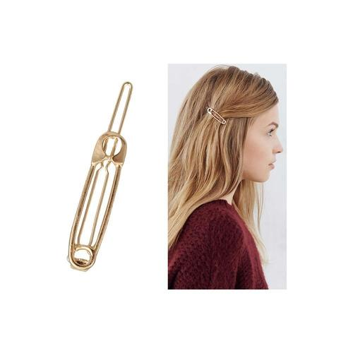 9 Pack Gold Vintage Retro Geometric Minimalist Metal Hair Clip Snap Barrette Claw Bobby Pins Hairclips Wedding Party Accessories-Women Hair Clips-inSowni