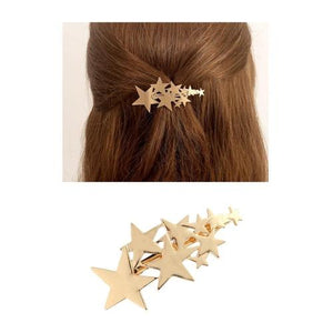 9 Pack Gold Vintage Retro Hair Clip Snap Barrette Claw Grip Bobby Pins Alligator Hairclips Metal Pearl Wedding Bridal Headpiece-Women Hair Clips-inSowni