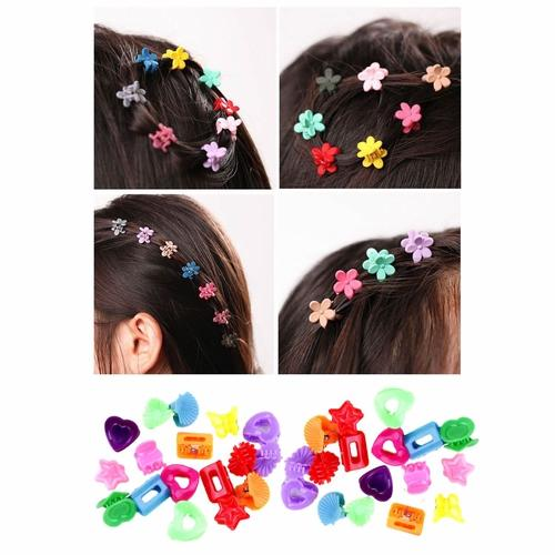 90 Pack Small Mini Flower Butterfly Plastic Hair Claw Clips Barrettes Grips Clamp Clasp Pins Hair Accessories for Kids Baby Girl-Hair Claws-inSowni