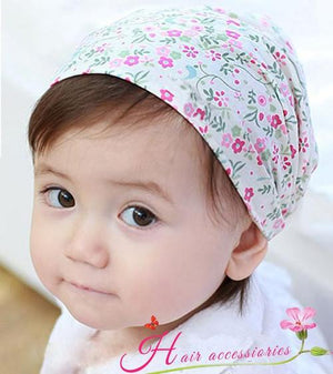 Baby Girl Floral Flower Headscarf Hairbands Headbands Kids Toddler Headwear Headdress-inSowni