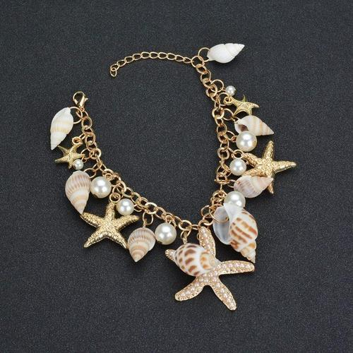 Bohemia Ocean Shell Starfish Bracelet For Lady Women Girls Men Bangles Jewelry Wristband Cuff Gift-Women Bracelet-inSowni
