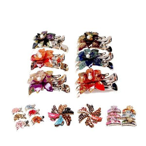 Flower Leopard Octopus Resin Hair Clips Claw Barrette Crab Clamp Clutcher Crab Jaw Barrettes Hairpin Clamps Clasps Pin Accessori-Hair Claws-inSowni