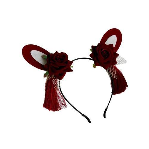 Halloween Batwing Devil Spider Headband Hair Hoops Bands Flower Rhinestone Lace Crown Deer Cat Rabbit Ear Gothic Party Costume for Adult Kids-Hair Hoops-inSowni