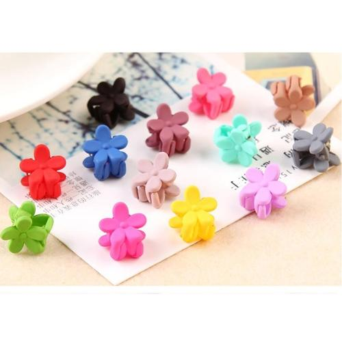 inSowni 10 Pack Plastic Flower Small Mini Hair Claw Clips Barrettes Accessories Hairgrips for Baby Girls Toddlers Kids Children-Hair Claws-inSowni