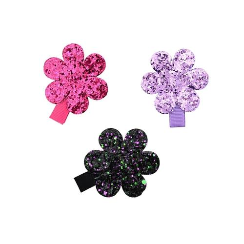"inSowni 10 Pairs 2"" Alligator Hair Clips Fully Lined Glitter Flower Barrettes Pins Accessories for Baby Toddlers Girls Teens Kids-Baby Girl Hair Clips-inSowni"