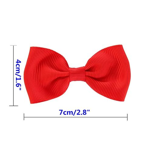 "inSowni 10 Pairs 2.8"" Hair Bow Clips Barrettes Pins Grosgrain Ribbon Accessories for Baby Toddlers Girls Teens Kids …-Baby Girl Hair Clips-inSowni"