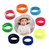 inSowni 100pcs Elastics Nylon Hair Ties Ponytail Holders Scrunchies Bands Headbands DIY Accessories Ropes for Baby Girls Kids-Hair Ties-inSowni