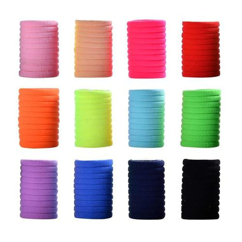 inSowni 120 Pack Nylon Seamless No Crease Elastics Hair Ties Bands Scrunchies Pigtail Ponytail Holders for Baby Girls Toddlers Infants Kids Thin Hair-inSowni
