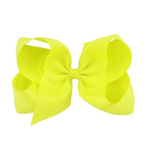 "inSowni 1pc Boutique Grosgrain 6"" Big Large Bow Alligator Hair Clips Barrettes Accessories for Baby Girl Toddlers Kids Children-Baby Girl Hair Clips-inSowni"