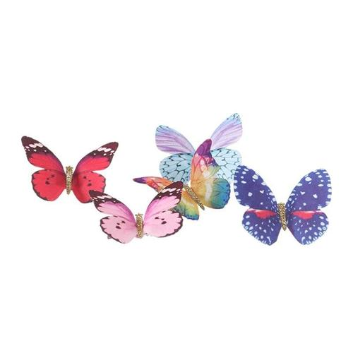 inSowni 1pc Glitter 90S Butterfly Alligator Hair Clips Clamps Pins Barrettes Accessories Wedding Bridal Bow for Kids Girls Women-Women Hair Clips-inSowni
