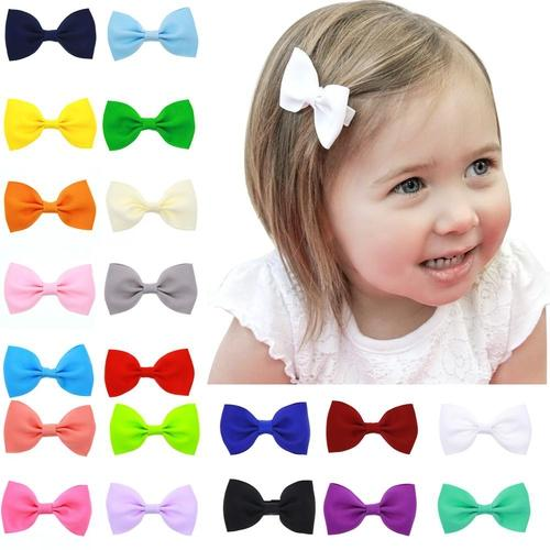 "inSowni 20 Pairs 2.5"" Inch Bow Snap Alligator Hair Clips Accessories Pins Barrettes for Baby Girl Toddlers (40PCS S14 (Size/2.5""))-Baby Girl Hair Clips-inSowni"