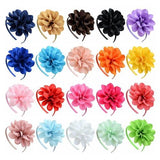 inSowni 2019 1pc Solid Flower Hair Clasp Hoop Headbands Hairbands Tiara Bands Accessories for Baby Girls Toddlers Kids Children-Hair Hoops-inSowni