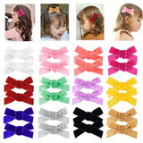 inSowni 2019 New 1 Pair Pigtail Velvet Bow Alligator Hair Clips Barrettes Accessories for Baby Girls Toddlers Infants Teens Kids-inSowni
