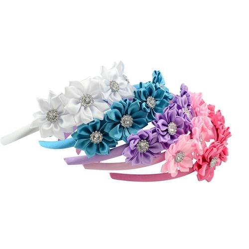 inSowni 2019 New 1pc Boutique Flower Hair Clasp Hoop Headbands Hairbands Accessories for Baby Girls Toddlers Infants Children-Hair Hoops-inSowni