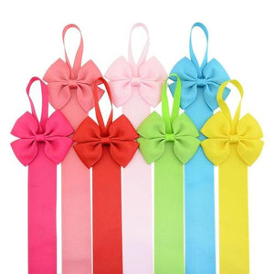 inSowni 2019 New 1pc Grosgrain Ribbon Solid Bow Hair Clips Barrettes Holder Organizer Storage Hanger-Hair Accessories Organizer-inSowni