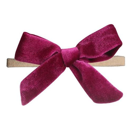 inSowni 2019 New 1pc Super Stretchy Nylon Solid Velvet Bow Headbands Hairbands Hair Accessories Ties for Baby Girls Toddlers Kid-Headbands-inSowni