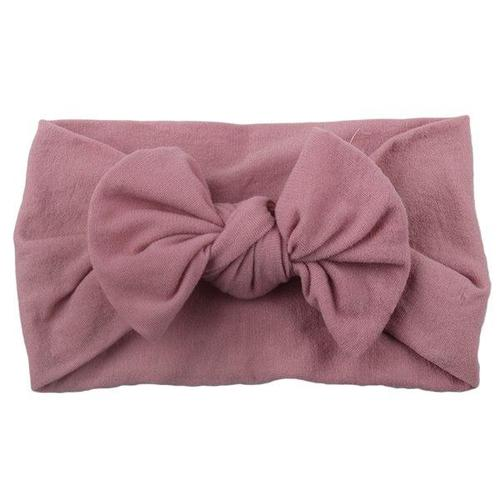 inSowni 2019 Newest Super Stretchy Nylon Bow Turban Headbands Hairbands Headwraps for Baby Girls Toddlers Infants Newborns-Headbands-inSowni
