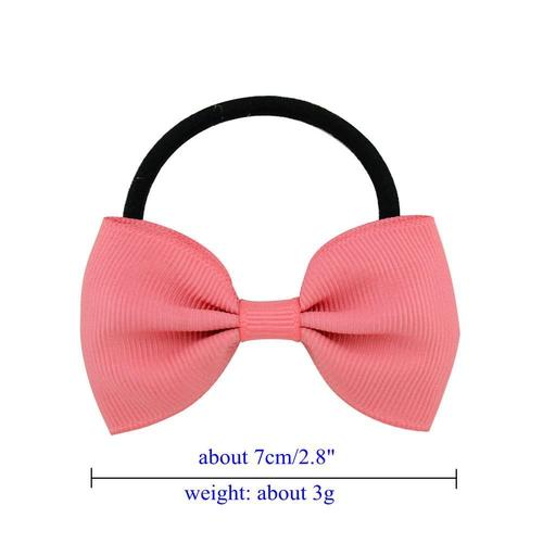 inSowni 20pcs Grosgrain Elastic Hair Bow Ties Rope Ring Band Ponytail Holder Flower Headbands Accessories for Baby Toddler Girls Kids Children-Baby Girl Hair Ties-inSowni