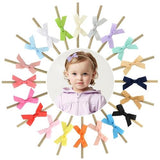 "inSowni 20pcs/Lot 2.5"" Grosgrain Ribbon Hair Bow Nylon Headbands Accessories Hairband Flower Baby Girl Toddlers Kids Children-Baby Girl Nylon Headbands-inSowni"