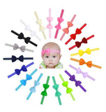 "inSowni 20pcs/Lot 2.7"" Grosgrain Headdress Hair Bow Headbands Accessories Hairband Flower Solid Color for Baby Girl Toddlers Kids Children-Baby Girl Bow Headbands-inSowni"