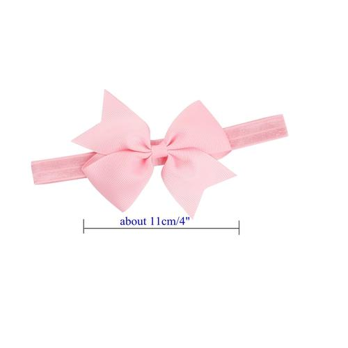 "inSowni 20pcs/Lot 4"" Grosgrain Headdress Hair Bow Headbands Accessories Hairband Flower Solid Color for Baby Girl Toddlers Kids Children-Baby Girl Bow Headbands-inSowni"