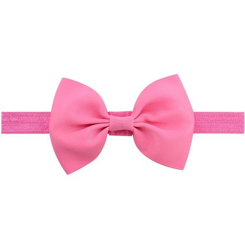 Baby Girls Light Pink Grosgrain Bow Headband Brand New