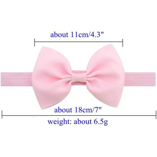 "inSowni 20pcs/Lot 4.3"" Solid Grosgrain Headdress Hair Bow Bands Headbands Accessories Hairband Flower for Baby Girl Toddlers Kids Children-Baby Girl Bow Headbands-inSowni"