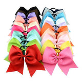 "inSowni 20PCS/Lot 8"" Inch Big Bow Elastic Hair Tie Rope Ring Headbands Bands Accessories Flower Ponytail Holder for Baby Girls Toddlers Women-Baby Girl Hair Ties-inSowni"