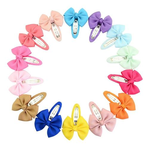 "inSowni 20pcs/Lot Grosgrain 2"" Hair Bow Alligator Snap Clips Pins for Baby Girl Toddlers Kids Infant Children Handmade Barrettes Hair Accessories-Baby Girl Hair Clips-inSowni"