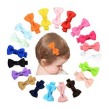 "inSowni 20Pcs/Lot Grosgrain 2"" Hair Bow with Alligator Clips for Baby Girl Toddlers Kids Infant Children Handmade Barrettes Hair Accessories-Baby Girl Hair Clips-inSowni"
