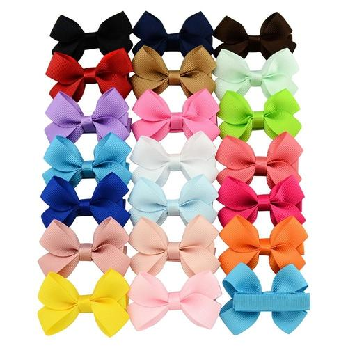 "inSowni 20Pcs/Lot Grosgrain 2"" Hair Bow with Covered Alligator Clips for Baby Girl Toddlers Kids Infant Children Handmade Barrettes Hair Accessories-inSowni"