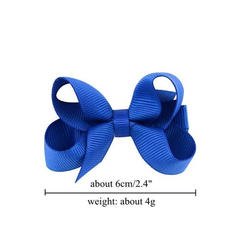 "inSowni 20Pcs/Lot Grosgrain 2.4"" Hair Bow with Alligator Covered Clips for Baby Girl Toddlers Kids Infant Children Handmade Barrettes Hair Accessories-Baby Girl Hair Clips-inSowni"