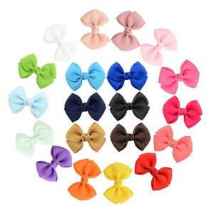 "inSowni 20Pcs/Lot Grosgrain 2.8"" Hair Bow Alligator Clips Pin Baby Girl Toddlers Kids Infant Children Handmade Barrettes Hair Accessories-Baby Girl Hair Clips-inSowni"