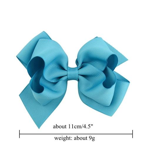 "inSowni 20Pcs/Lot Grosgrain 4.5"" Alligator Solid Hair Bow Clips for Baby Girl Toddlers Kids Infant Children Handmade Barrettes Hair Accessories-Baby Girl Hair Clips-inSowni"