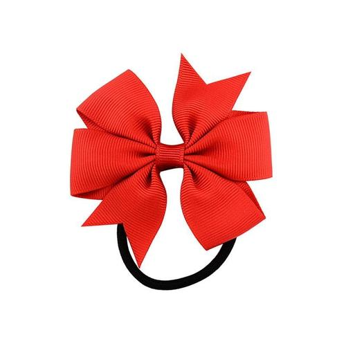 inSowni 20pcs/Lot Grosgrain Stretch Hair Bow Ties Rope Ring Band Ponytail Holder Flower Headbands Accessories for Baby Toddler Girls Kids Children-Baby Girl Hair Ties-inSowni