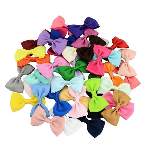 "inSowni 2.8"" Bow Snap Alligator Hair Clips Pins Barrettes for Baby Girl Toddlers (40PCS S1 (Size/2.8""))-Baby Girl Hair Clips-inSowni"
