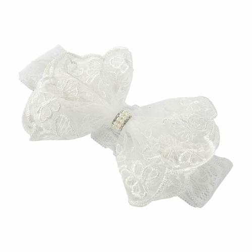 Christening// Baptism Baby girl headband butterfly lace sequins flower girl gift