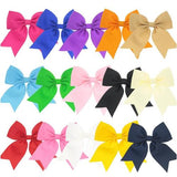 "inSowni 3.5"" Inch Bow Snap Alligator Hair Clips Barrettes Pins Accessories for Baby Girl Toddlers (15PCS S13 (Size/3.5""))-Baby Girl Hair Clips-inSowni"
