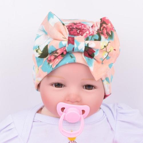 inSowni 4PCS/Lot Flower Bonnet Hat Cap with Big Bow For Baby Girl Infant Newborn Hair Accessories-baby girl hat-inSowni