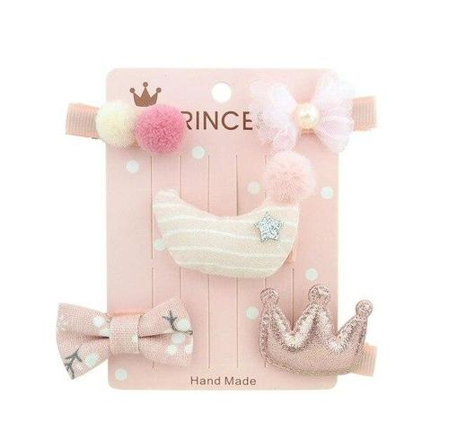 inSowni 5 Pack Bow Flower Mulit Styles Alligator Hair Clips Hairgrips Hairpins Barrettes Accessories for Baby Girls Toddlers Kid-Baby Girl Hair Clips-inSowni