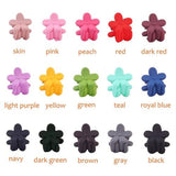 inSowni 50pcs Mini Hair Claw Clips Barrettes Plastic Flower Rabbit Ear for Baby Girl Toddler Infant Kids-Baby Hair Claw Clips-inSowni