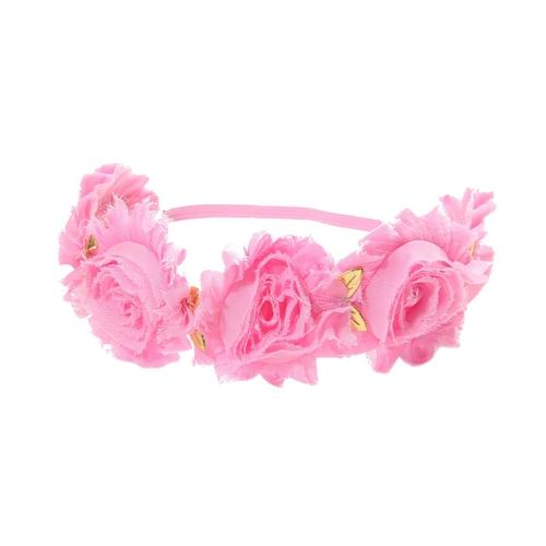 inSowni 5pcs Headbands Wreath Shabby Flower for Baby Girl Toddler Newborn Kids-Baby Flower Headbands-inSowni