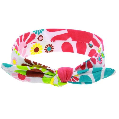 inSowni 6PCS/Lot Baby Girl Self Tie Bunny Ears Floral Print Headband Hair Bands Bow Accessories Kids Toddlers Infant Headwear-Baby Girl Headbands-inSowni
