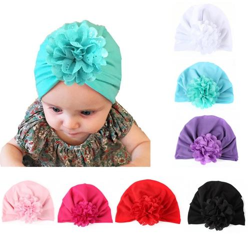 inSowni 7pcs Newborn Baby Girl Hospital Turban Hat Cap with Ear Knot Flower-baby girl hat-inSowni