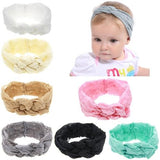 inSowni 7pcs/Lot Baby Girl Solid Lace Knotted Bunny Ears Headband Hair Bands Bow Accessories Pack Kids Toddlers Infant Headwear-Baby Girl Headbands-inSowni
