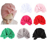 inSowni 7PCS/Lot High Quality Fashion Solid Toddler Kids Children Newborn Baby Girl Hospital Turban Hat Cap Headdress Hair Accessories-baby girl hat-inSowni