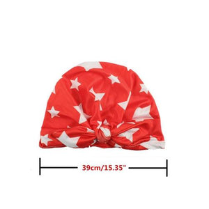 inSowni 7PCS/Lot High Quality Fashion Star Print Toddler Kids Children Newborn Baby Girl Hospital Turban Hat Cap Headdress Hair Accessories-baby girl hat-inSowni