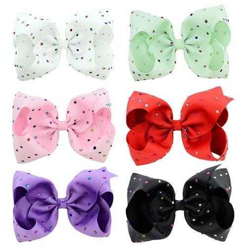 "inSowni 8"" Big Large Bow Hair Clips Barrettes for Baby Girl Toddlers Kids-Baby Girl Hair Clips-inSowni"